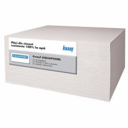 PLACA GIPS CARTON EXTERIOR AQUAPANEL KNAUF placa 2,88 mp